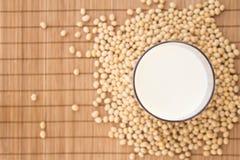 mjölka soja Arkivbilder