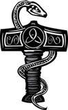Mjolnir en Serpent Stock Foto