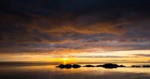 Mjosund sunset stock video footage