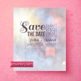 Mjuk andlig räddning datumbröllopmallen Fotografering för Bildbyråer