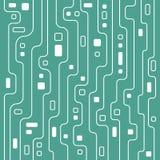 Mjuk blåttströmkretslinje konstillustrationbakgrund Royaltyfri Fotografi