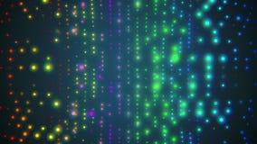 Mjuk blinkavägg av kulört glödande färgrikt för ny kvalitets- universell rörelse för ljusanimeringbakgrund dynamiskt livligt royaltyfri illustrationer