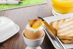 Mjuk-kokat ägg Royaltyfri Foto