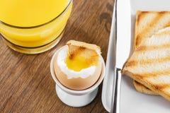 Mjuk-kokat ägg Arkivbilder