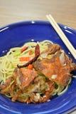 Mjuk krabba för spagetti Royaltyfri Fotografi