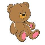Mjuk leksak för nallebjörn Arkivfoton