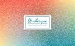 Mjuk lutningfärg med den överexponerade arabesquemodellen Arkivfoto