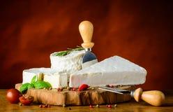 Mjuk ost, Brie och camembert Arkivfoto