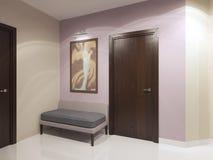 Mjuk soffa i korridor fotografering för bildbyråer