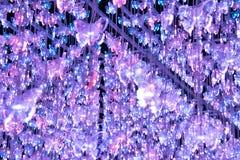 Mjuk suddighetsfjärilsakryl LEDDE ljus stock illustrationer