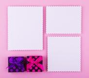 Mjuk uppsättning i rosa färg- och lilasignaler Arkivfoton