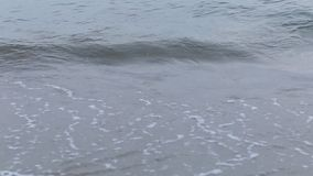 Mjuk våg av havet på den sandiga stranden, härlig strand arkivfilmer