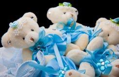 Mjuka björnleksakgåvor för en kvinnadag Royaltyfria Bilder