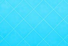 Mjuka blått eller för mosaiklergods för cyan tegelplatta glansig backgr för material Fotografering för Bildbyråer