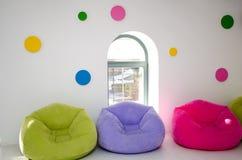 Mjuka härliga stolar Arkivfoton
