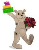Mjuka leksaker - liten björn Arkivbild