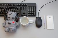 Mjuka robotToy Helpdesk objekt Royaltyfria Bilder