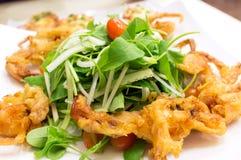 Mjuka Shell Crab Salad Royaltyfria Foton