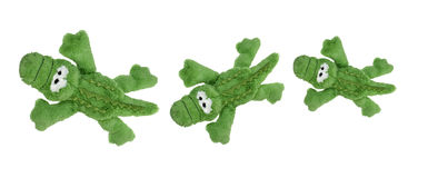 Mjuka Toy Crocodiles Arkivbild