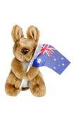 Mjuka Toy Kangaroo Arkivbild