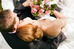 mjukhetbröllop Fotografering för Bildbyråer