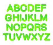 Mjukt böjligt alfabet för lutning för rörneon 3D i moderiktig ufogräsplan för 2019 färg vektor illustrationer