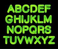 Mjukt böjligt alfabet för lutning för rörneon 3D i moderiktig ufogräsplan för 2019 färg royaltyfri illustrationer