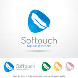 Mjukt handlag Logo Template Design Vector Vektor Illustrationer