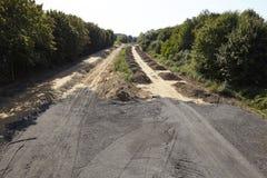 Mjukt kol - förr Autobahn A4 nära Merzenich Arkivfoton