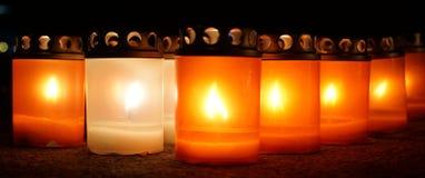 Mjukt ljus från stearinljus Arkivbild