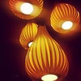 mjukt ljus med asiatisk stil Arkivfoto