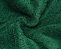 Mjukt trä eller Co-textur med veck av den gröna torkduken Royaltyfria Foton