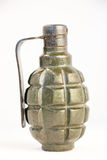 Mk 2 hand grenade. Not real Mk 2 hand grenade with white backgraund Stock Photography