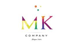 Mk m k  creative rainbow colors alphabet letter logo icon. Mk m k  creative rainbow colors colored alphabet company letter logo design vector icon template Royalty Free Stock Photo