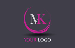 MK M K Letter Logo Design. Sign Symbol Typography  on simple background Stock Photos
