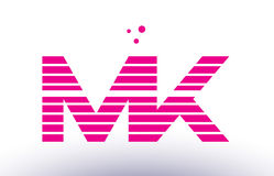 Mk m k pink purple line stripe alphabet letter logo vector templ. Mk m k alphabet letter logo pink purple line stripe company design template creative abstract Royalty Free Stock Photo