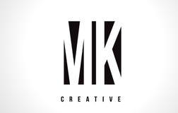 MK M K White Letter Logo Design with Black Square. MK M K White Letter Logo Design with Black Square Vector Illustration Template Royalty Free Stock Images