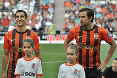 Mkhitaryan Henrikh and Srna Darijo Royalty Free Stock Photography
