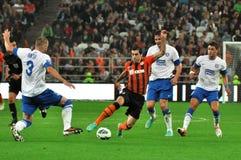 Mkhitaryan slaat rivaal Royalty-vrije Stock Fotografie