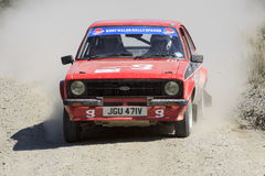 A Mkii Ford Escort rally car stock images