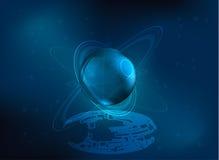 Mknący magii gwiazdy wektoru tło Obraz Stock