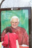MKT Outdoor/Mupi during Pope's Visit To Portugal Stock Photography