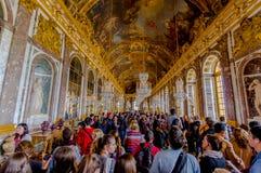Mäktiga och härliga Hall av speglar Royaltyfria Foton