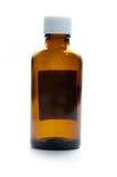 100ml το κενό γυαλί ψαλιδίσματος μπουκαλιών καφετί ακίνδυνο για τα παιδιά συμπεριλαμβανόμενο απομόνωσε το λευκό μονοπατιών ιατρικ Στοκ Εικόνες