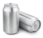 330 ml aluminiumölburkar Arkivfoto