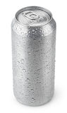 500 ml aluminum can with water drops Royalty Free Stock Photography
