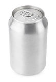 330 ml aluminum soda can. 330 ml aluminum beverage drink soda can isolated on white with clipping path Royalty Free Stock Photography