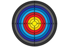 Mål för bågskytte, vektor, lutning Arkivbild