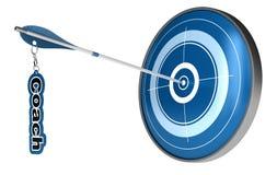 mål för lagledarecoachningbegrepp Arkivfoto