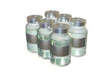 100ml pustego miejsca butelki brąz biel ścinku szkło zawrzeć odosobnionej etykietki pokrywkowego medycyny ścieżki biel Obraz Stock